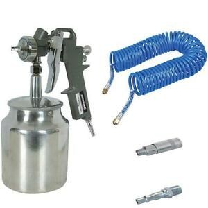 Suction Feed Spray Gun Coil Hose Pcl Style Air Compressor Fittings 196536