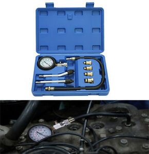 Pro Petrol Gas Auto Engine Cylinder Compression Diagnostic Tester Gauge Kit Us