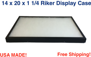 14 X 20 X 1 1 4 Riker Display Case Box For Collectibles Jewelry Arrowheads