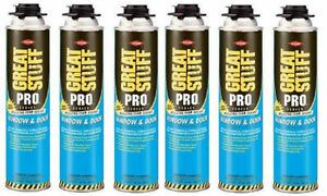 Dow Great Stuff Pro Window And Door 20oz Foam 187273 Pack Of 6