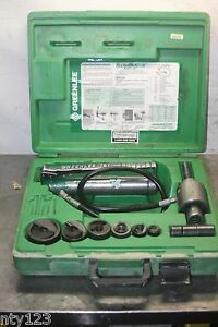 Greenlee Hydraulic Knockout Punch Die Set 1 2 To 2 Inch