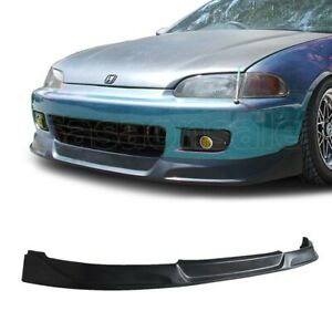 Fit For 92 95 Honda Civic Coupe Hatchback Jdm Tcs Style Front Bumper Add On Lip