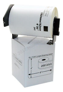 12 Rolls Of Dk 1241 Brother compatible Shipping Labels W 2 Reusable Cartridges