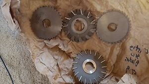 Lot Of 4 Morse Utd Slitting Side Milling Mill Cutters Saw Blades 4 Diameter