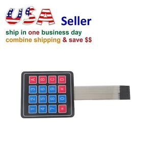 4 X 3 Matrix Array 12 Key Membrane Switch Keypad Keyboard For Arduino avr pic
