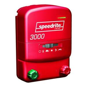 Speedrite 3000 Energizer 30 Mile Fence Charger Ac dc Powered 120 Acres