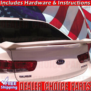 For 09 13 Kia Forte Koup Custom Style Spoiler Trunk Wing W led Light Unpainted