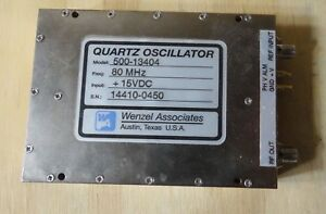 Wenzel Associates Quartz Oscillator Model 500 13404 Freq 80 Mhz