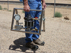 Hydrostatic Test Pump Portable Air Operated High Pressure 25 000 Psi
