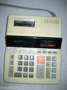 Used Sharp El 2192c Calc 12 Digit 2 Color Great Screen Missing Paper Hold Arms