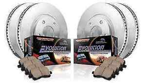 Power Stop Koe5942 Front Rear 1 Click Oe Replacement Brake Kit For 2012 Mustang