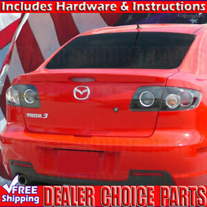 2004 2009 Mazda 3 Factory Style Spoiler Lip Trunk Wing Abs Unpainted