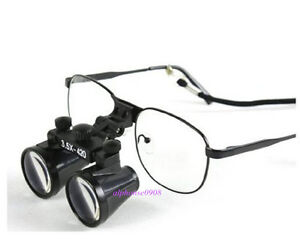 3 5x Dental Binocular Loupes Medical Magnifier With Metal Frame Us Stock