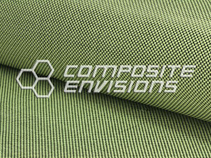 Carbon Fiber Made With Kevlar Yellow Fabric Plain Weave 50 3k 5 5oz 186 48 Gsm