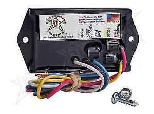 Rigid 40312 Universal 3 Amp 12 Volt 7 Mode Flasher Module For Led Lights