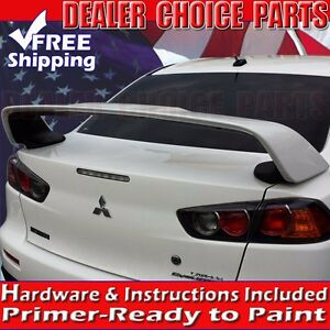 2008 2017 Lancer Evo X Oem Factory Style Spoiler Rear Trunk High Wing Unpainted