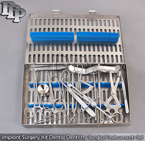 Implant Surgery Kit Dental Dentistry Surgical Instruments Set Of 20 Piece Dn 583