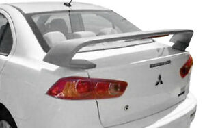 Fits Mitsubishi Lancer Evo x Gt 2008 Factory Rear Spoiler Unpainted W Light