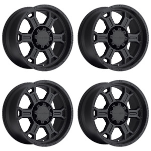 Set 4 17 Vision 372 Raptor Black Wheels 17x8 8x6 5 10mm Chevy Gmc Sierra 8 Lug