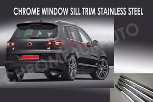 Vw Tiguan Chrome Window Sill Trim Overlay Stainless Steel 2008 2017 6pcs