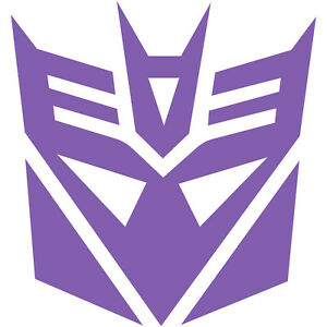 Transformers Decepticon Decepticons Logo 6 Decal Sticker Car Window Laptop