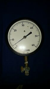 Reclaimed Vintage Industrial Lonergan Gauge Meter 60psi Steampunk Stuff