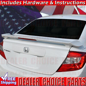 2012 2015 Honda Civic 4dr Oe Factory Style Spoiler Wing W led Light Unpainted
