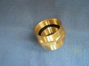 Hex Brass Fire Hose Adapter 1 1 2 Fnst X 1 1 2 Fipt Double Female ffh1515f