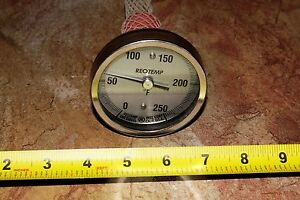 Reotemp Bi metal Thermometer And Thermowell 0 To 250 Degree F 3 Face