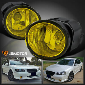 Fit 2000 2001 Maxima 2000 2003 Sentra Yellow Fog Lights Driving Lamps Switch