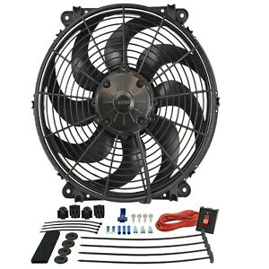 Derale 16514 Tornado 14 Electric Puller Fan W Premium Mounting Kit