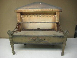 Vintage Antique Cast Iron Ceramic Fireplace Insert Gas Heater Ohio Radiant