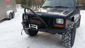 1984 2001 Jeep Cherokee Xj Mj Front W Winch Mount And Stinger Bar