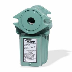 Taco 009 hbf5 j Pump Bronze 115v For Outdoor Wood Boiler Circulates Water