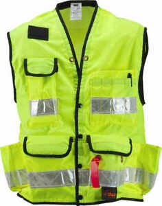 Seco Class 2 Surveyor s Vest With Mesh Back Lime Yellow Large 48 50 Chest