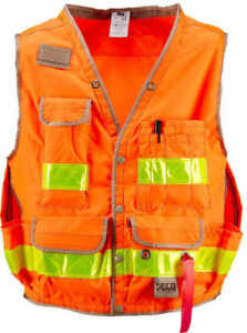 Seco Class 2 Lightweight Safety Utility Vest X large Fluorescent Orange