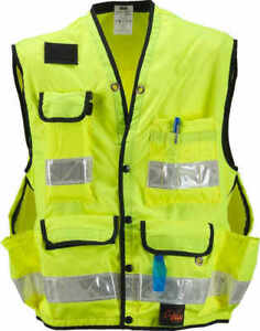 Fluorescent Yellow X large Seco Class 2 Lightweight Safety Utility Vest