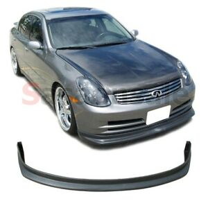 Fit For 2003 2004 Infiniti G35 4dr Sedan Ns Style Front Bumper Add On Lip Pu