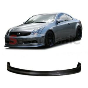 Fit For 2003 2006 Infiniti G35 2dr Coupe Ns Style Front Bumper Add On Lip Pu