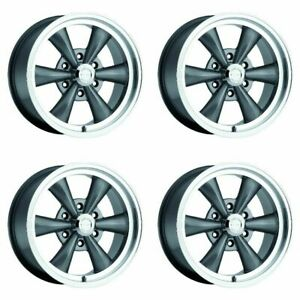 Set 4 17 Vision 141 Legend 6 Gunmetal Wheels 17x8 6x5 5 0mm Chevy Lifted 6 Lug