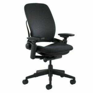 Steelcase Leap V2 Chair open Box Fully Loaded Black Fabric