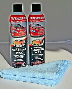 Waterless Wash Carnauba Wax Fastwax Fw1 Spray Can Removes Cleans Tar Dirt Bugs