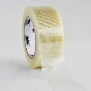 Clear Industrial Filament Reinforced Strapping Tape 4 Mil 3 X 60 Yds 8 Pack