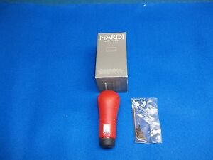 Nardi Red Leather Universal Gear Shift Knob Prestige Line Made In Italy