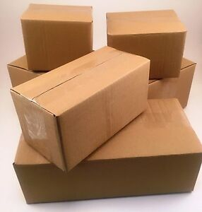 100 6x4x4 Corrugated Cardboard Shipping Boxes packing cartons mailing moving