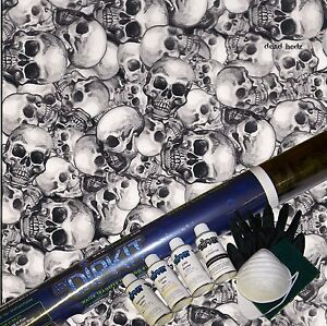 Hydrographics Dip Kit Activator Water Transfer Print Skull Hydro Dip Ll 801