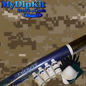 Hydrographics Dip Kit Activator Water Transfer Desert Army Digital Camo Mc 821