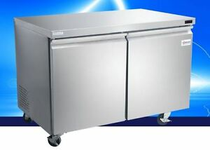 Omcan Fr cn 1219 47 11 2cf 2 door Stainless Commercial Undercounter Freezer New