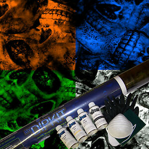 Hydrographics Dip Kit Activator Water Transfer Print Skull Hydro Dip Ll 869