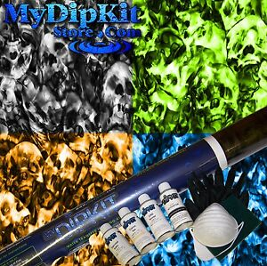 Hydrographics Dip Kit Activator Water Transfer Skull Hydro Dipping Rc 300
